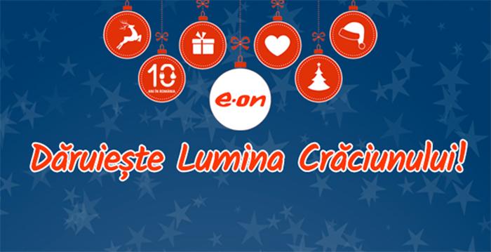 E.ON Energie România a pregătit un dar de Crăciun de 200.000 de kWh