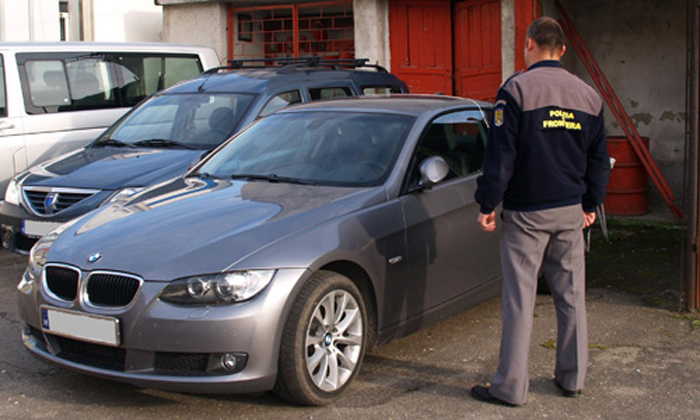 BMW furat din Spania depistat în PTF Petea