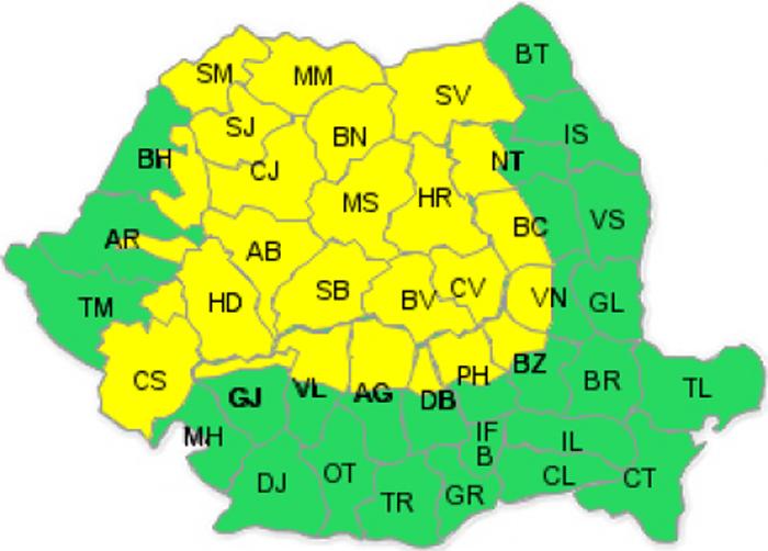 Cod galben de ninsori în județul Satu Mare