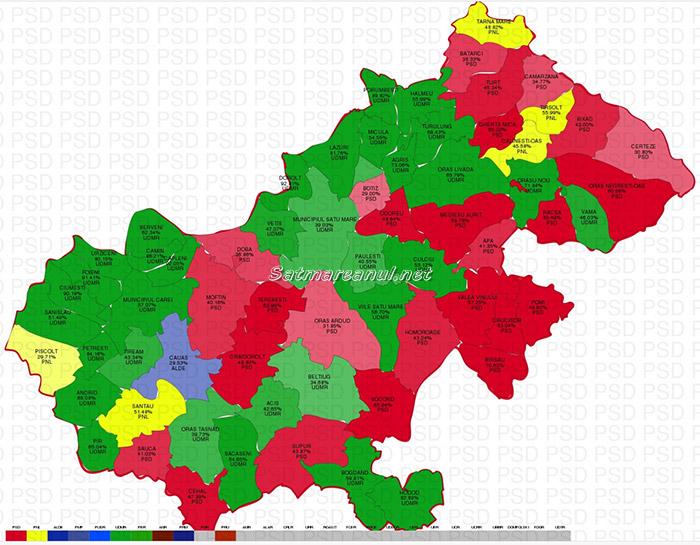 Exclusiv: Vezi rezultatele pe localități ale alegerilor parlamentare în județul Satu Mare