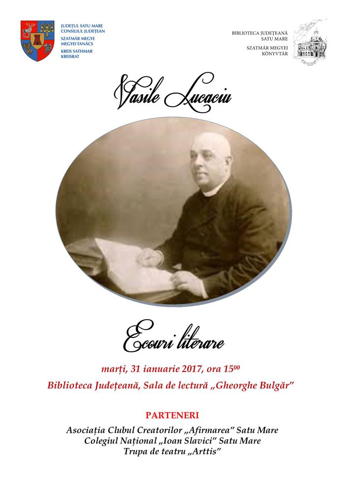 165 de ani de la nașterea lui Vasile Lucaciu