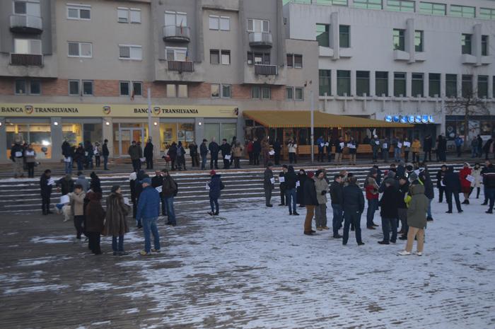 Protest anti-grațiere la Satu Mare (Foto)