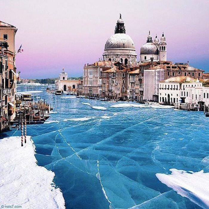 """Până și Veneția a înghețat. Cum arată """"Orașul Dogilor""""?"""