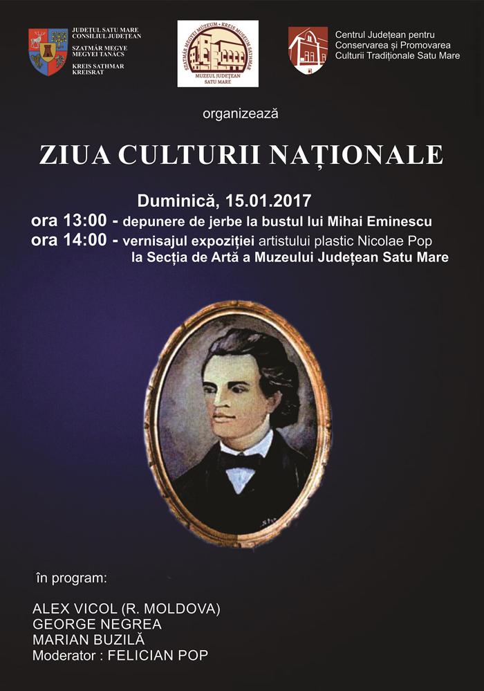 """""""Ziua Culturii Naționale"""" sărbătorită la Satu Mare"""