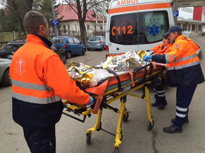 Explozie la o casă din Satu Mare. Victima, în stare gravă