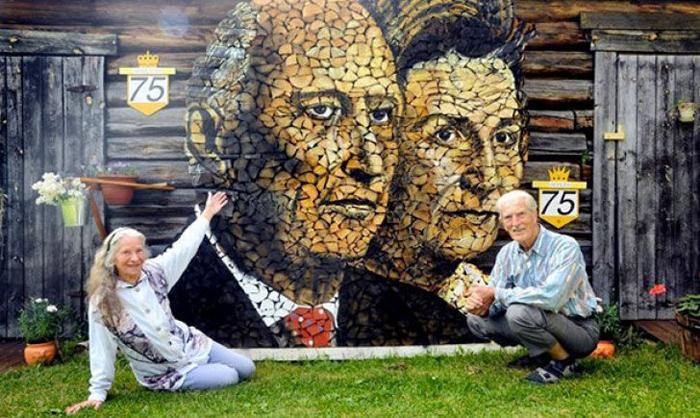 Au creat artă din lemne de foc (Galerie foto)