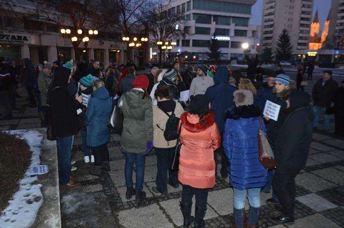 Protest anti-amnistie la Satu Mare (Foto)