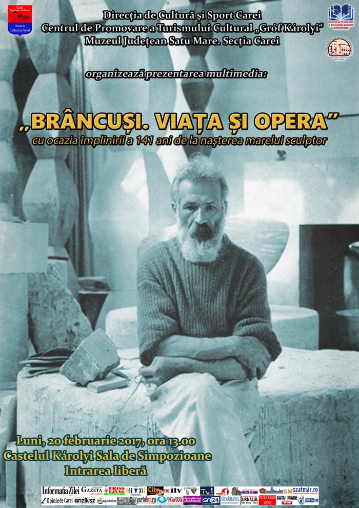 Viața și opera lui Constantin Brâncuși la Castelul din Carei