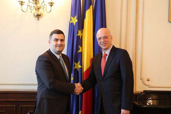 Ministrului Gabriel Leș s-a întâlnit cu ambasadorul Germaniei în România