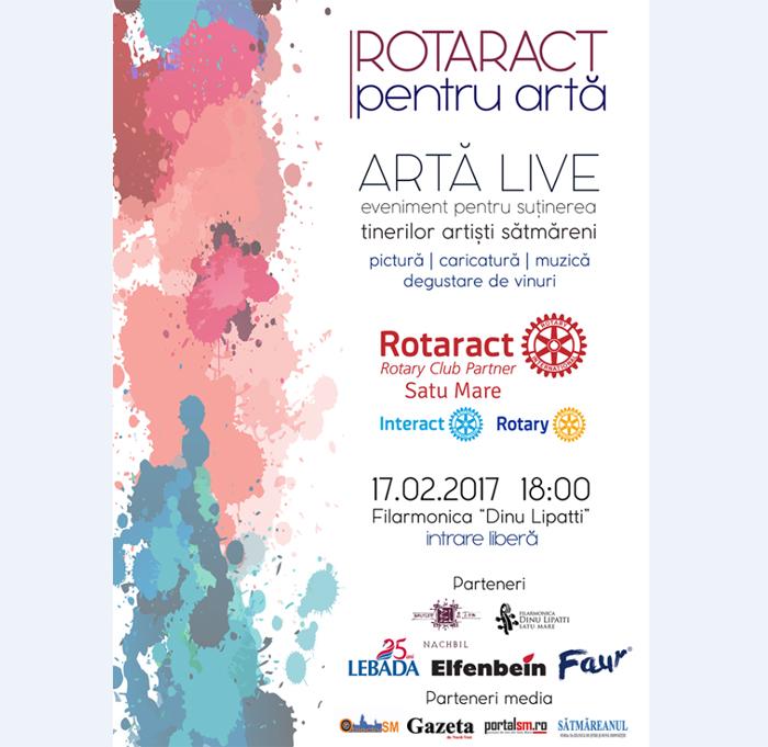 """Rotaract pentru Artă – """"Artă Live"""", la a II-a ediție"""