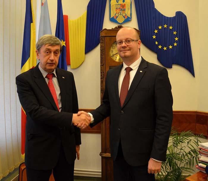 Ambasadorul Rusiei în România, a vizitat municipiul Satu Mare. Ce a discutat cu primarul Kereskenyi Gabor