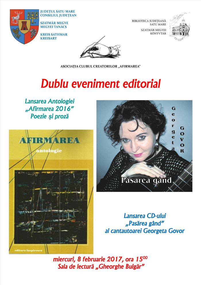 Dublu eveniment editorial la Biblioteca Județeană Satu Mare