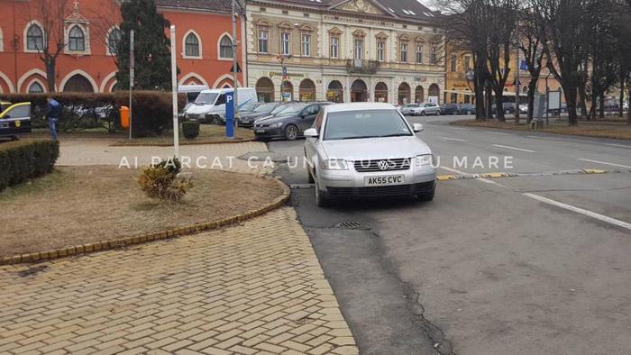 Nu vreau să parchez legal ! Sunt șmecher (Foto)