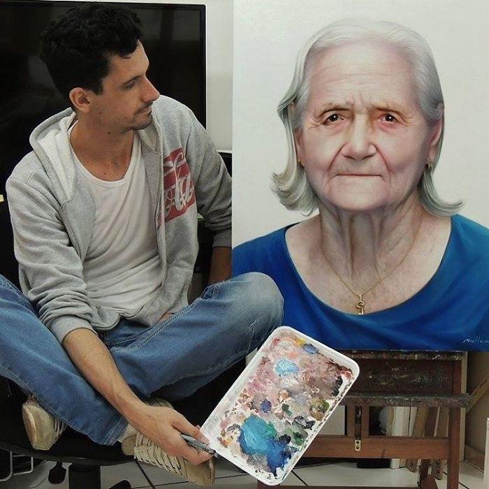Cum arată pictura fotorealistică ? Lucrările unui artist fac senzație pe internet (Foto&video)