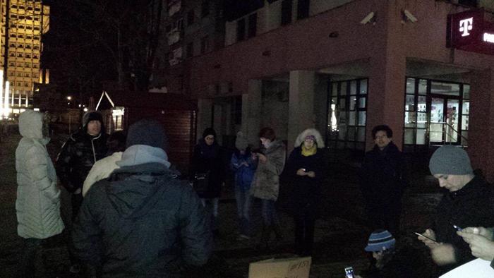 Protest nocturn la Satu Mare