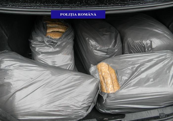 Traficant din Satu Mare, prins cu 50 de kg de tutun, în Bihor