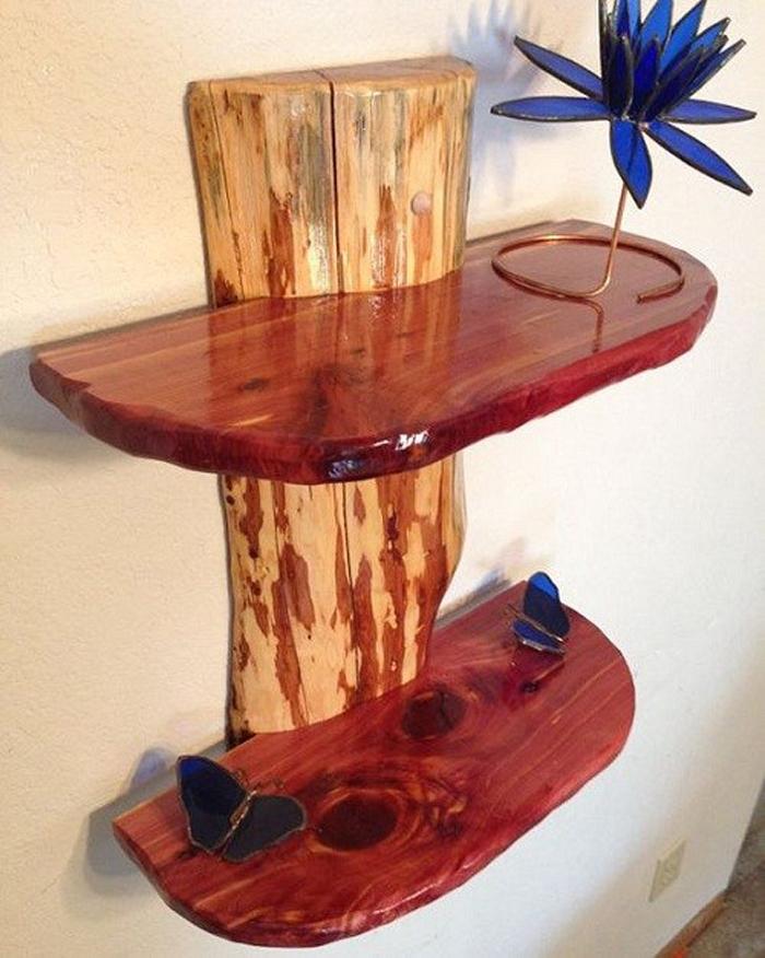 Obiecte decorative din bușteni și bucăți de lemn (Galerie foto)