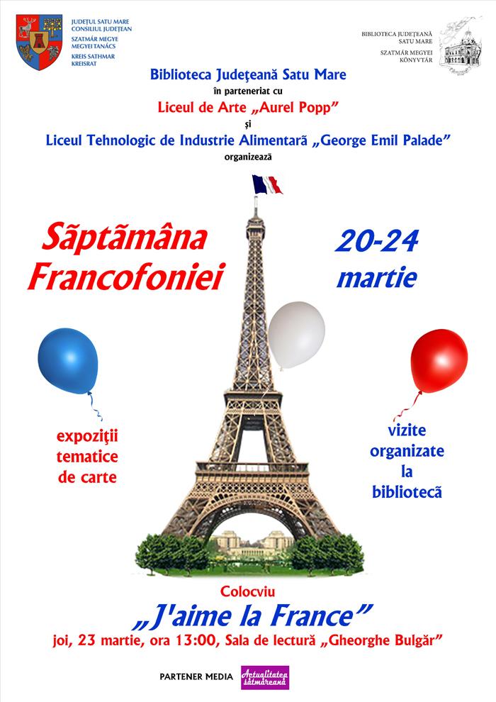 Săptămâna francofoniei la Biblioteca Județeană Satu Mare