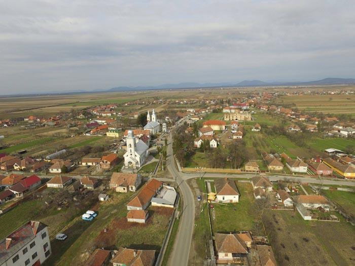 Medieșu Aurit văzut de sus (Foto&video)
