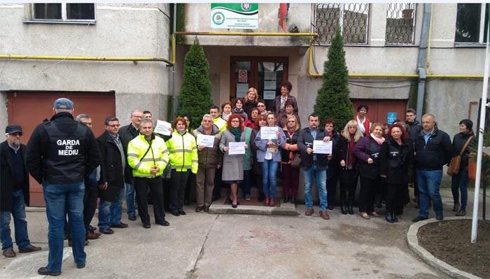 Al doilea protest în fața Agenției pentru Protecția Mediului Satu Mare