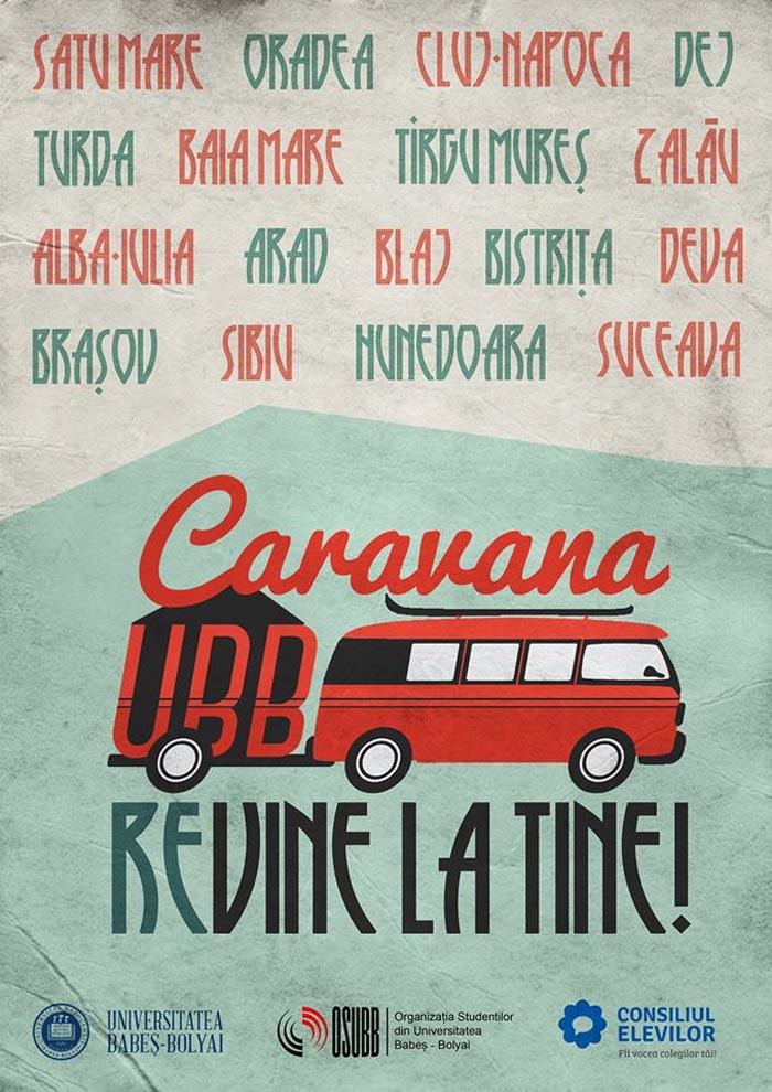 Caravana UBB vine la tine !