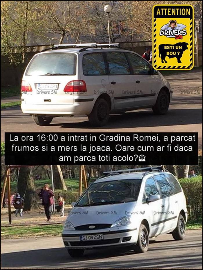 Parcare în Grădina Romei ? Doar pentru unii … (Foto)