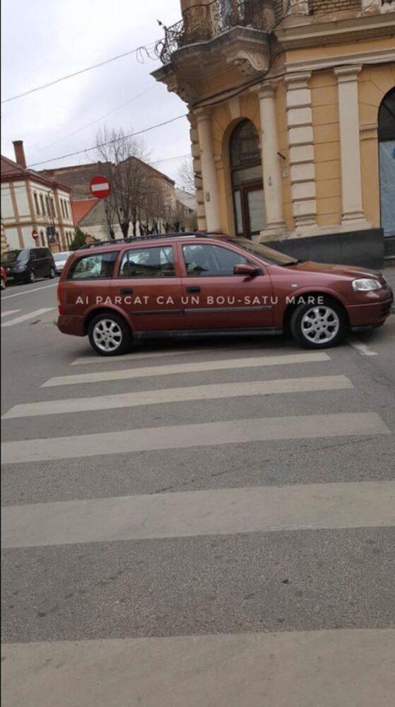 Poftim, dă-i notă ! Parcare direct pe zebră (Foto)