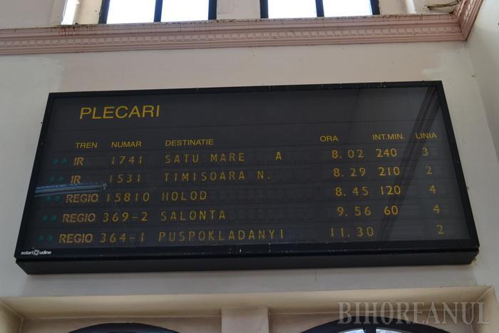 Greva ceferiștilor: Trenul Satu Mare – Oradea a întârziat peste 4 ore
