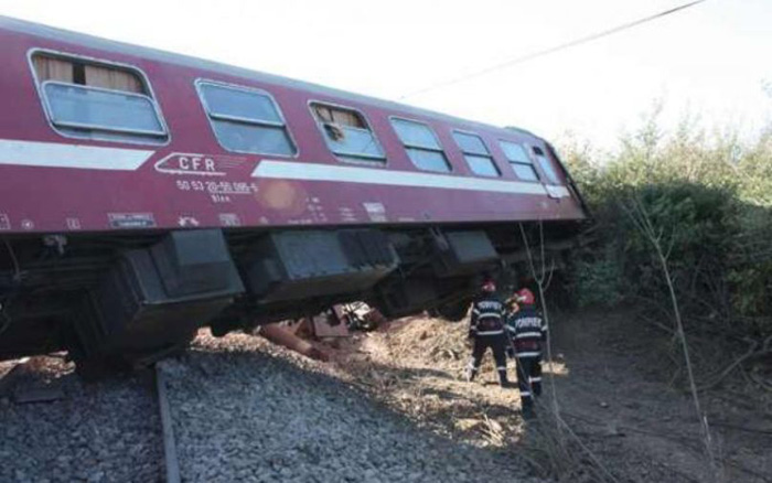Trenul Baia Mare – Satu Mare a deraiat
