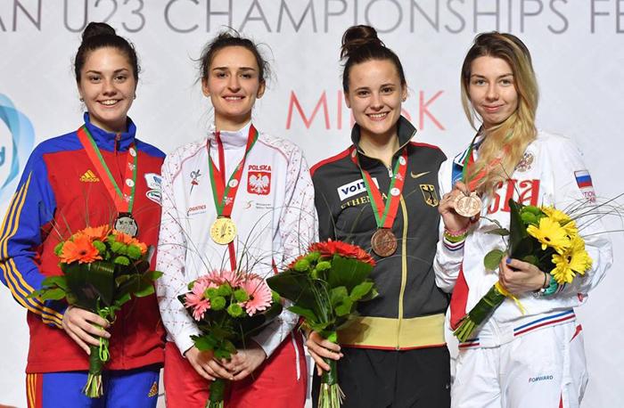 Amalia Tătăran, medalie de argint la Campionatul European de scrimă pentru tineret