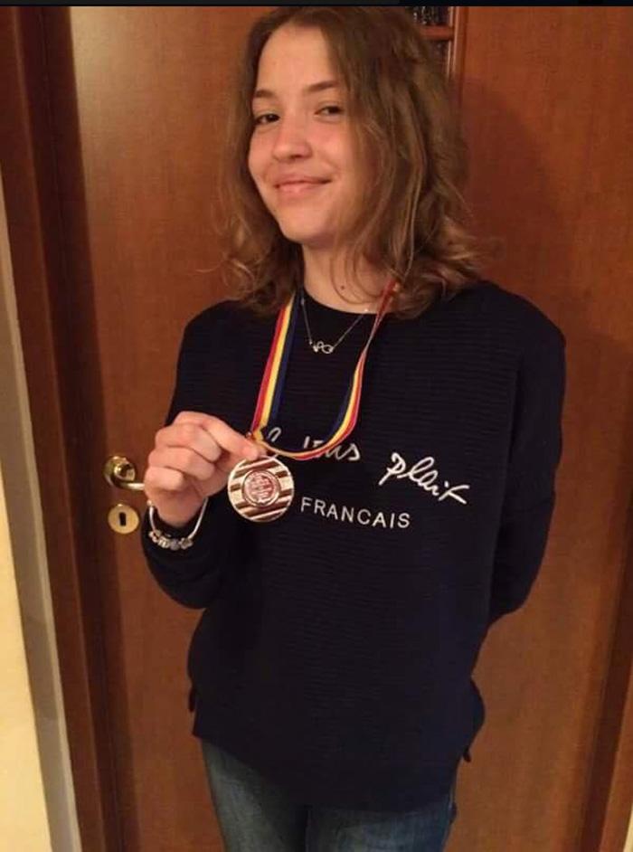 Ioana Roman, medaliată cu argint la Olimpiada Națională de Matematică