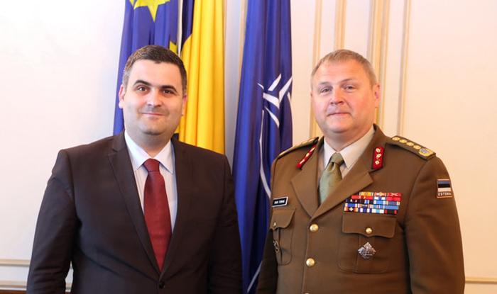 Șeful apărării din Estonia, la sediul MApN