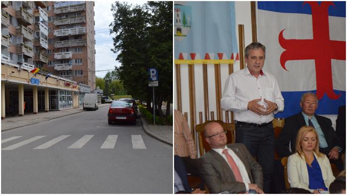 Strada din fața Primăriei, închisă circulației. Ce spune Maskulik Csaba