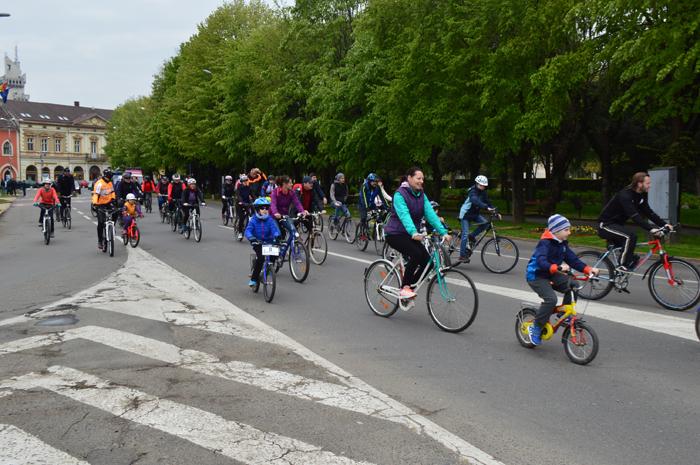 Marșul bicicliștilor la Satu Mare (Foto)