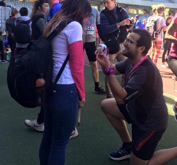 Poveste de dragoste în Cluj. Vezi cum și-a surprins un sătmărean iubita (Foto)