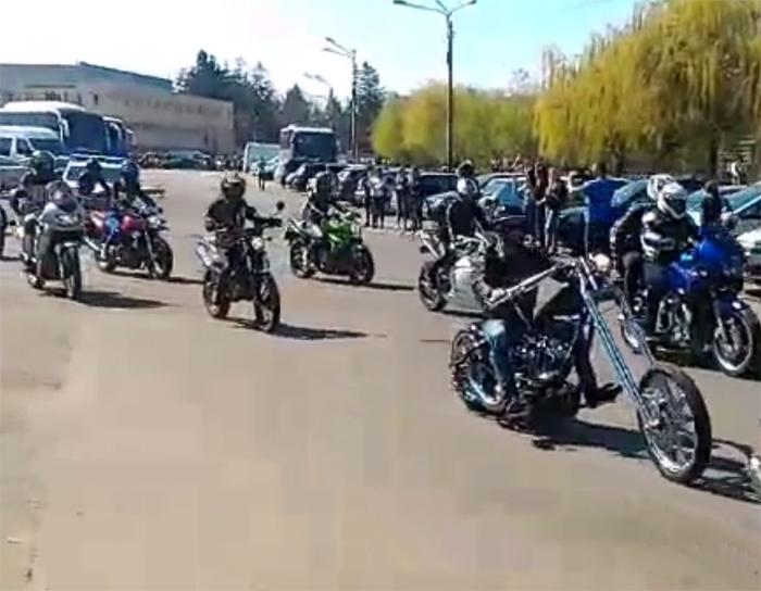 Motocicliști din Satu Mare, la un marș în Cluj-Napoca