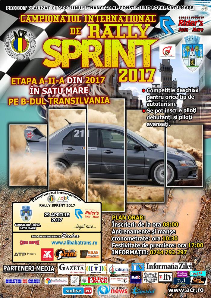 O nouă etapă de Rally Sprint, în week-end, la Satu Mare