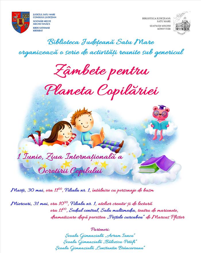 Ziua Copilului, marcată la Biblioteca Județeană Satu Mare
