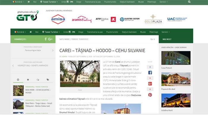 Așa da ! Site dedicat promovării turistice a județelor Maramureș și Satu Mare