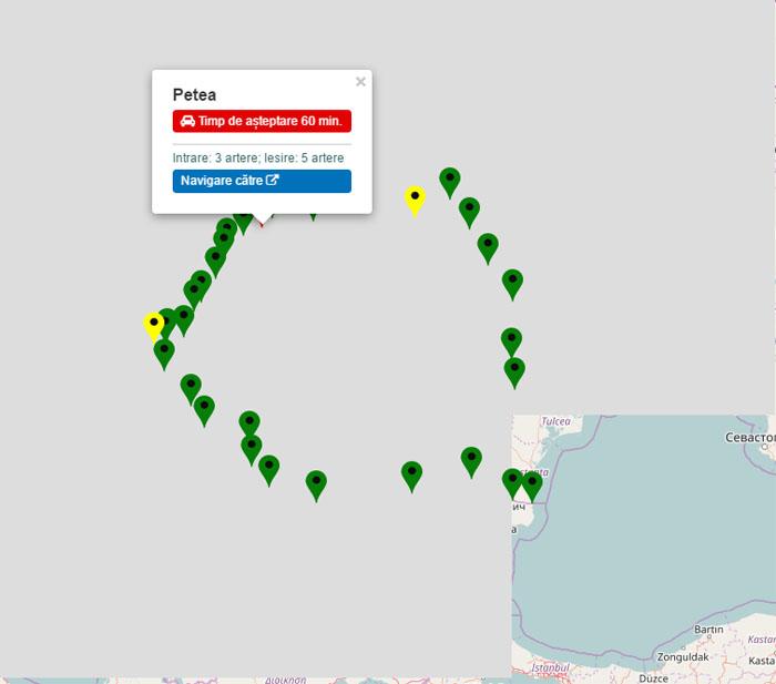 PTF Petea, punctul roșu de pe harta României. Timp de așteptare: 60 de minute