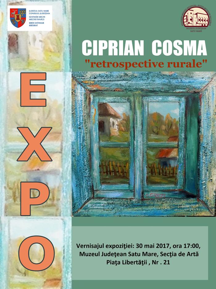 """Ciprian Cosma îș expune """"Retrospectivele rurale"""" la Muzeul de Artă"""