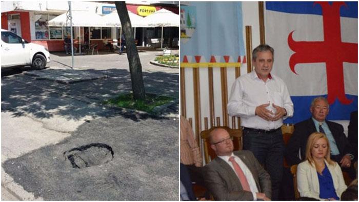 Reacție oficială: Ce spune Maskulik Csaba despre craterul apărut în trotuarul din 14 Mai