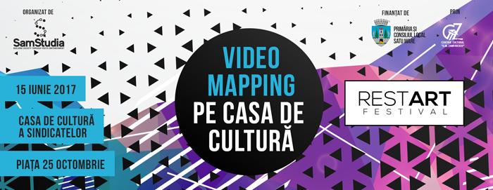 Spectacol vizual inedit la Satu Mare! Videomapping pe Casa de Cultură