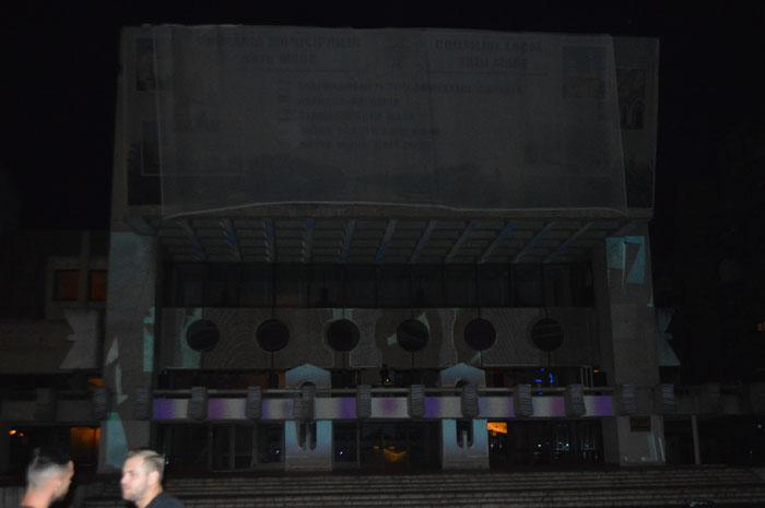 Spectacol vizual pe fațada Casei de Cultură a Sindicatelor (Foto&video)