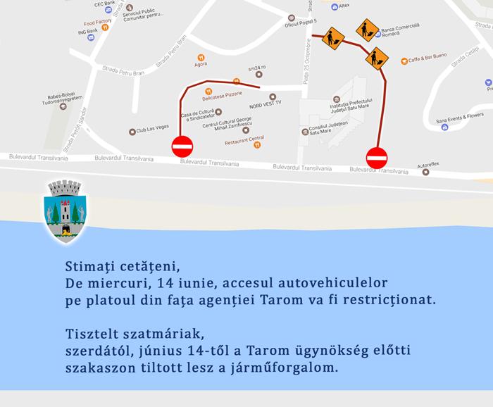 După scandalul de sâmbătă, Primăria interzice accesul mașinilor în centru