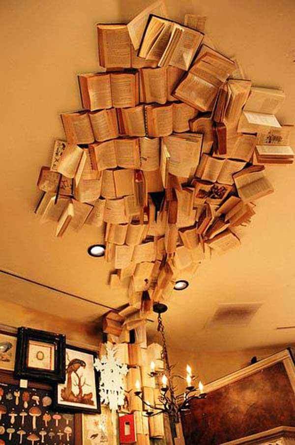 Cum să îți decorezi casa folosind cărți (Galerie foto)