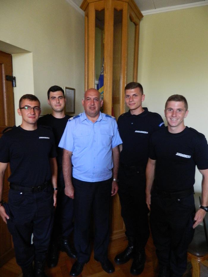 Patru elevi jandarmi în practică la IJJ Satu Mare
