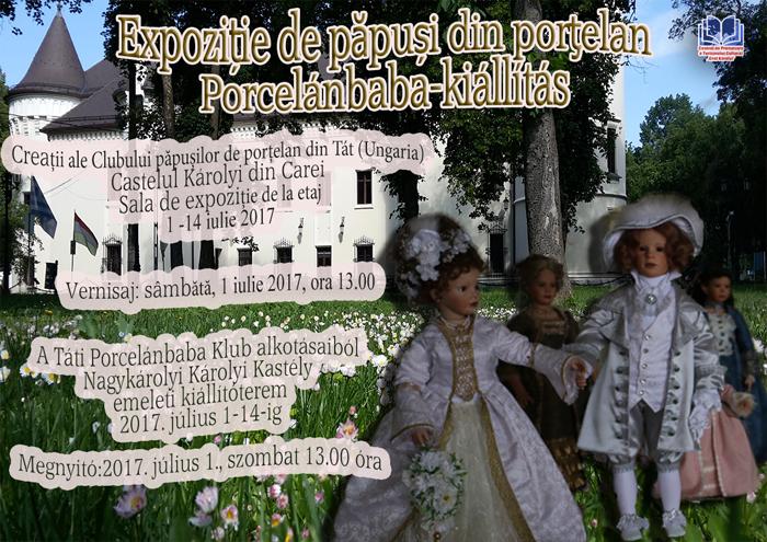Expoziție de păpuși de porțelan la Castelul din Carei