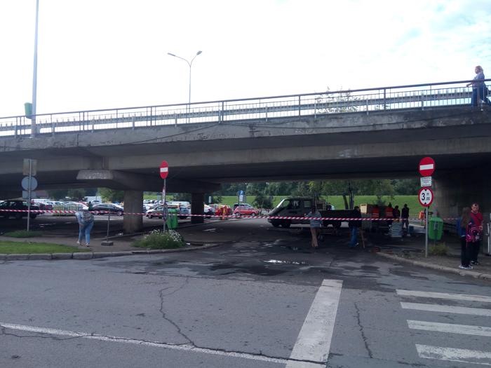 Au început lucrările în zona stației de microbuze de sub Podul Decebal