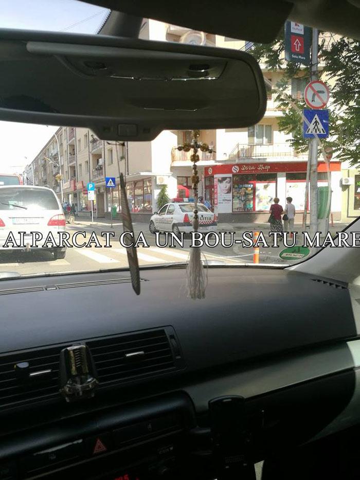 Chiar și polițiștii parchează ilegal. Vezi dovada ! (Foto)